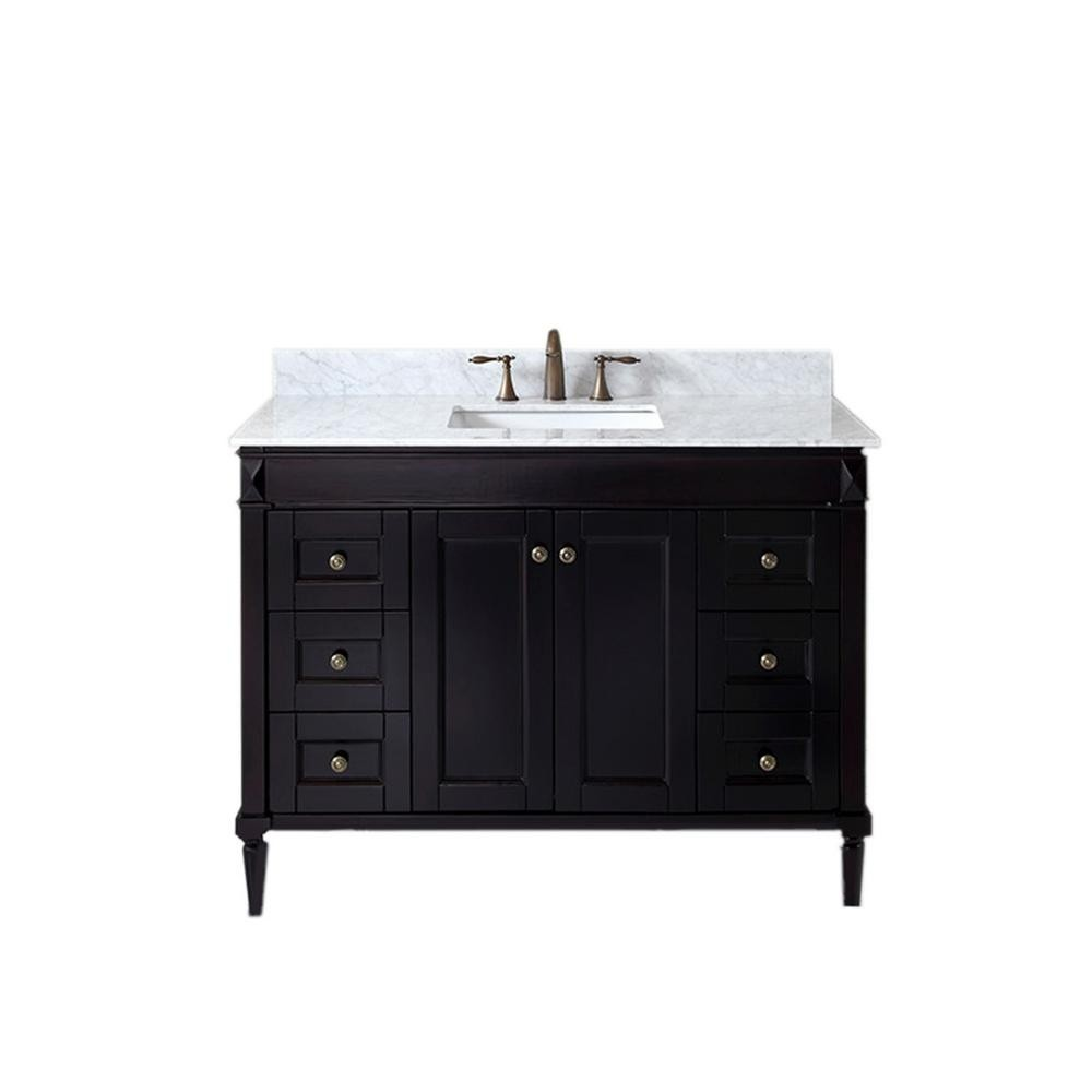"Virtu Tiffany 48"" Single Vanity ES-40048-WMSQ-ES"
