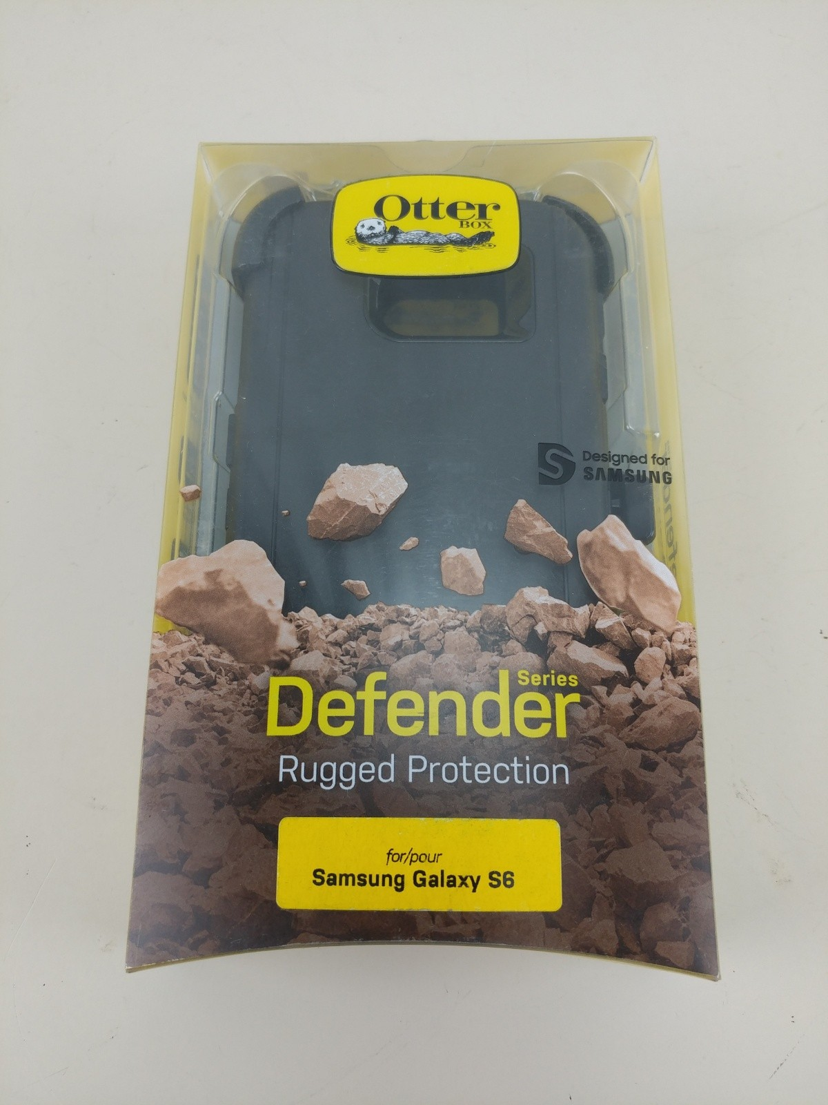 Otterbox Defender Case For Samsung Galaxy S6 BLACK - with Belt Clip