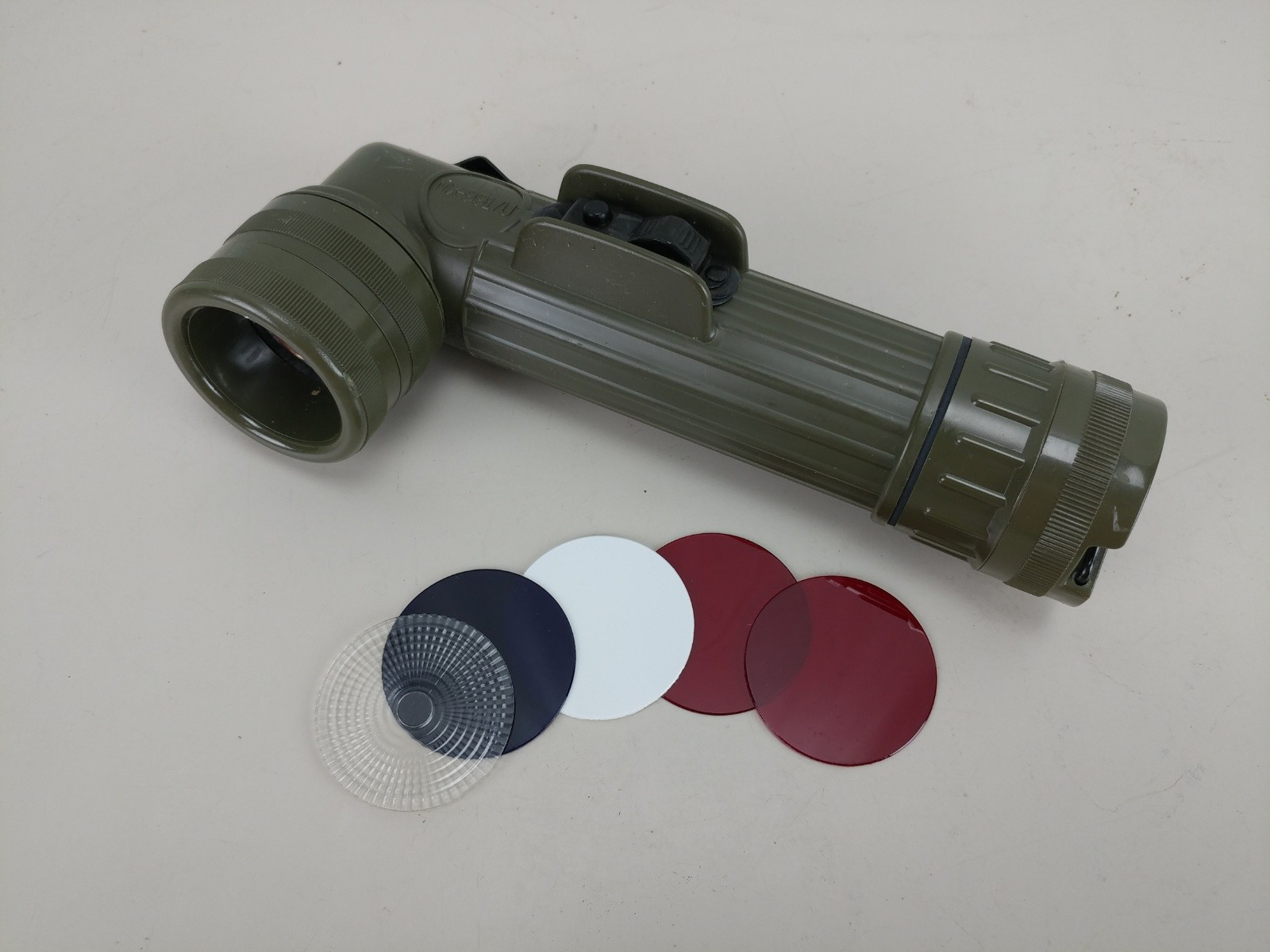 Vintage Fulton Angle Head Flashlight MX-991/U OD Green