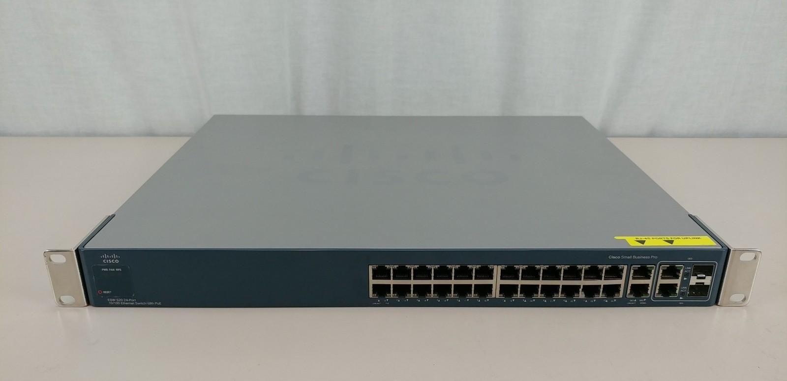 Cisco ESW-520-24P-K9 24 Port 10/100 Ethernet Switch w/ PoE Tested