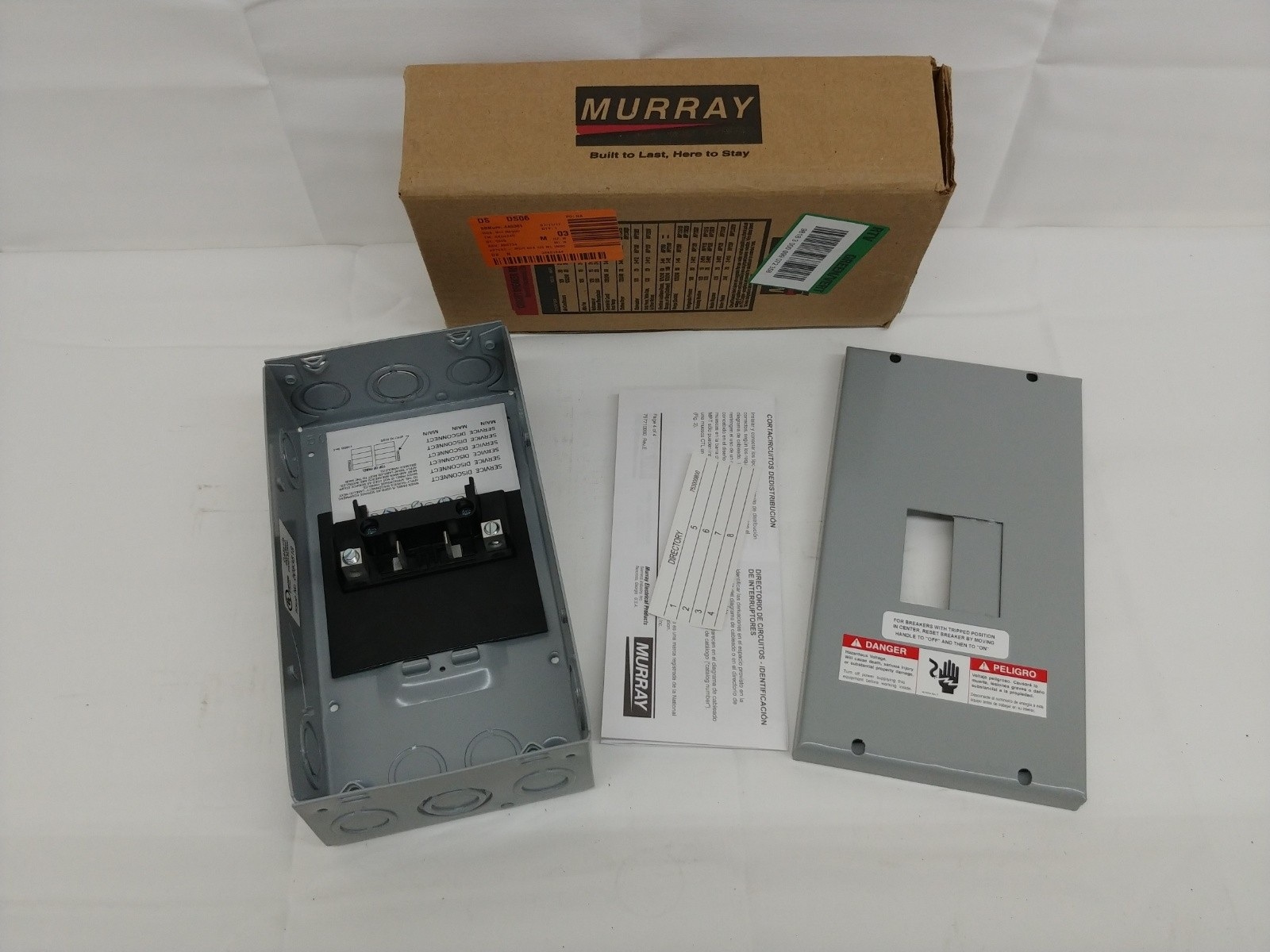 Murray LC002GSU Load Center, 2 Space, 4 Circuit, 60A Main Lug