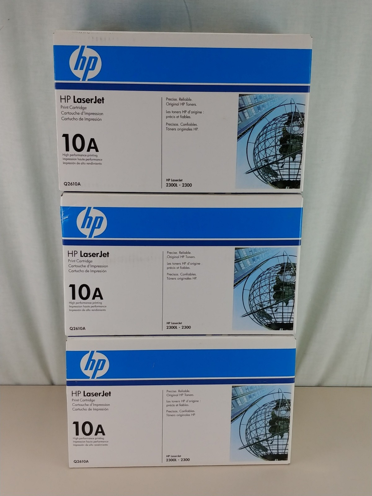 3x Genuine , HP Q2610A (10A) - BLACK Toner Cartridge, LaserJet 2300 /2300L