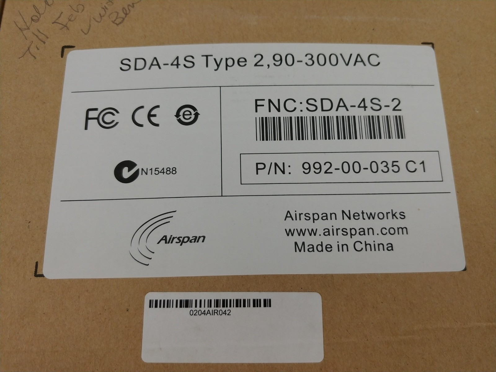 Airspan Networks SDA-4S Type 2 992-00-035 C1