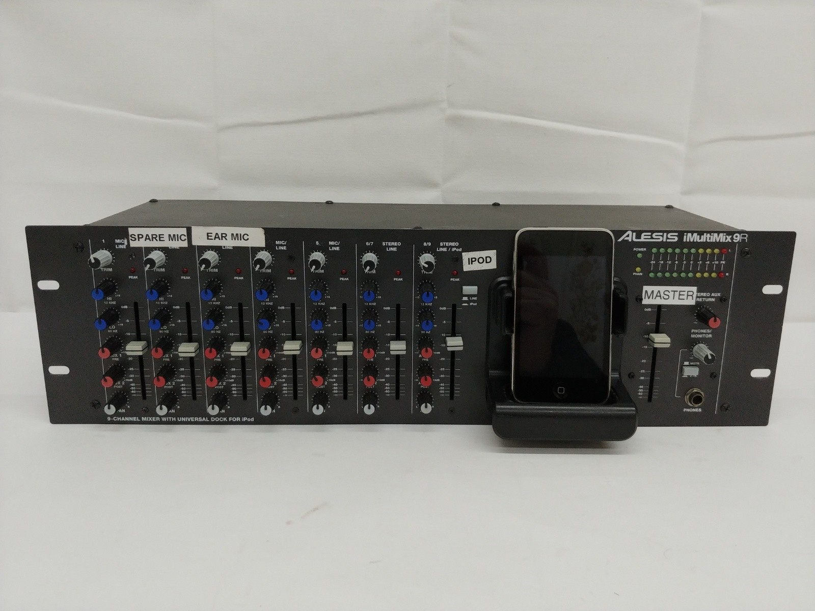 Alesis iMultimix 9R Rackmount Mixer with iPod Dock & iPod