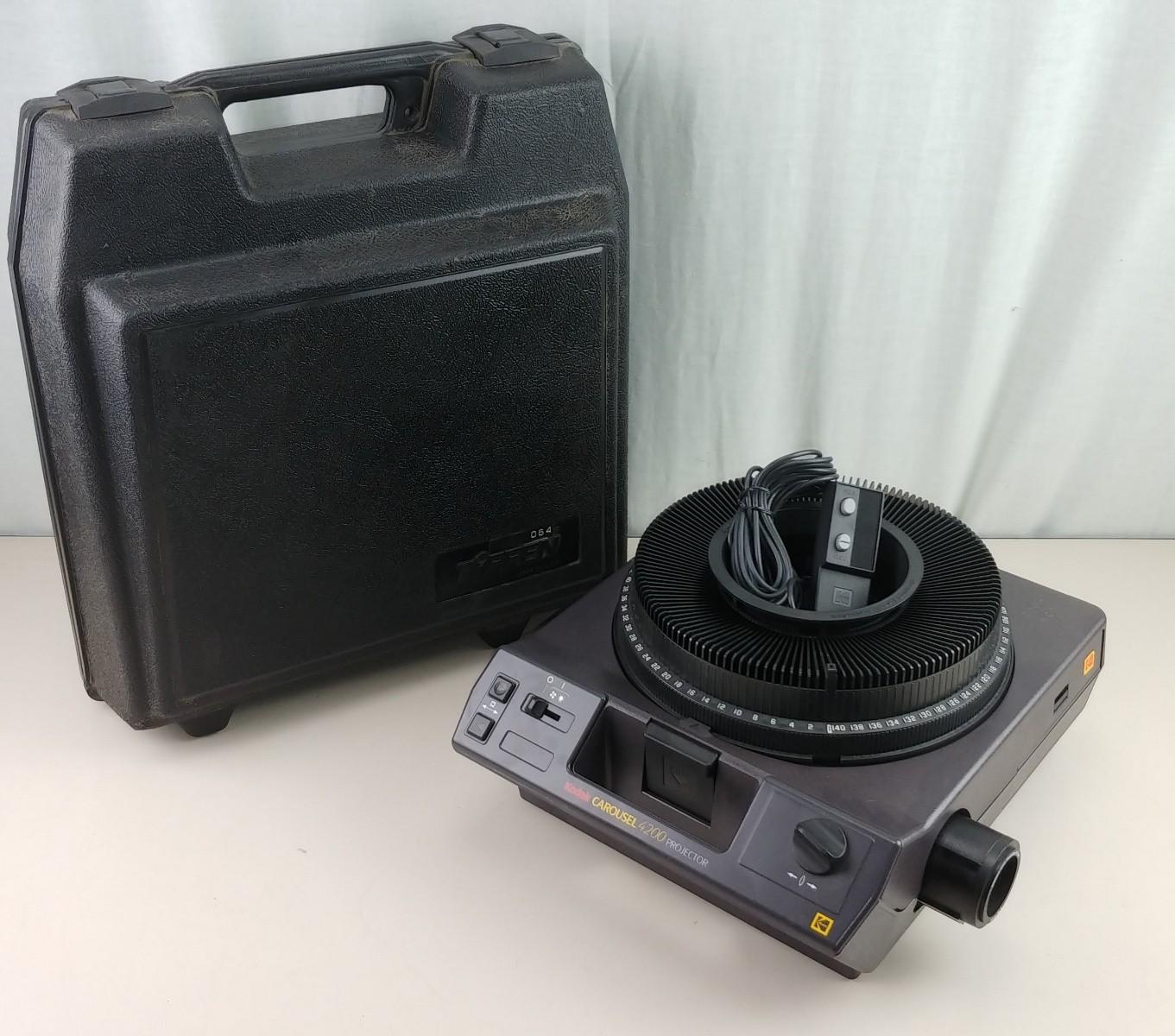Kodak Carousel 4200 Projector & Tiffen Case