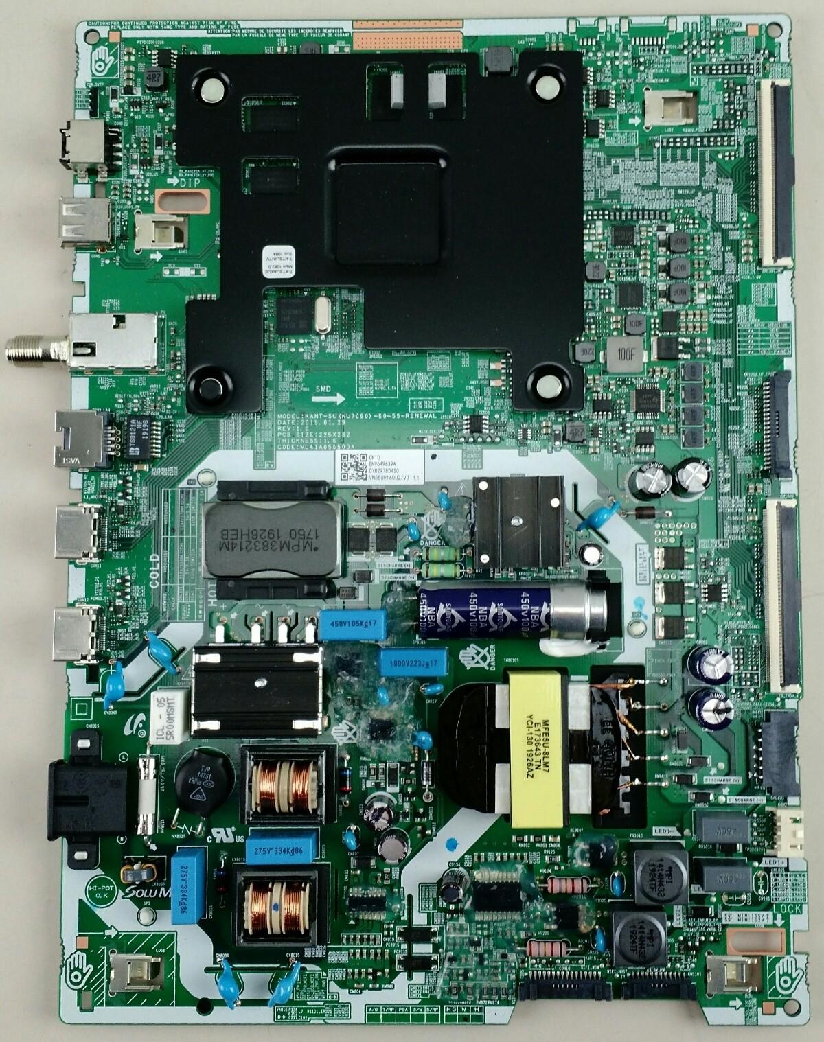 Samsung BN9649639A Main Board for UN55RU7200FXZA (CA02/UNU7100) TV