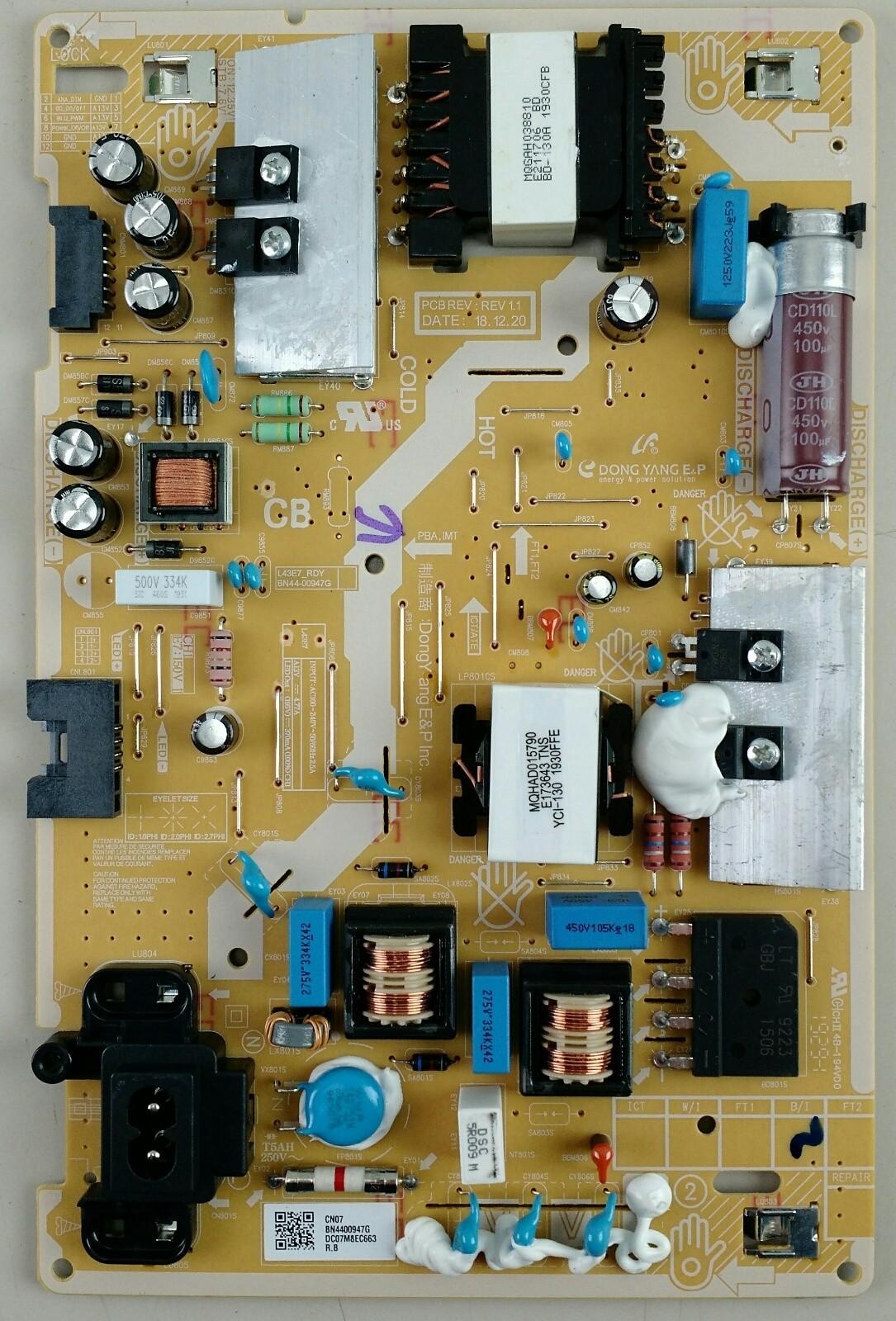 Samsung BN4400947G Power Board for UN43NU6900BXZA (P28) TV