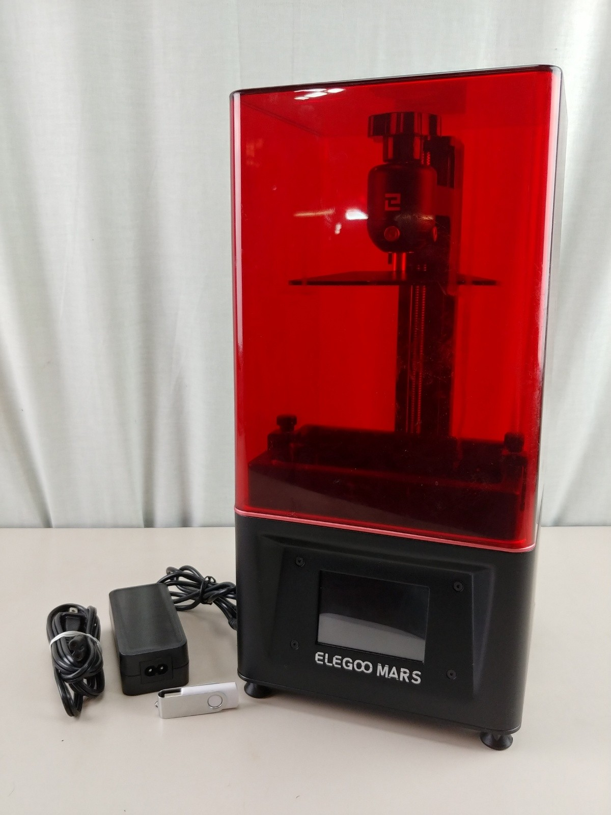USED ELEGOO Mars UV Photocuring LCD 3D Printer with 3.5'' Smart Touch Color Screen