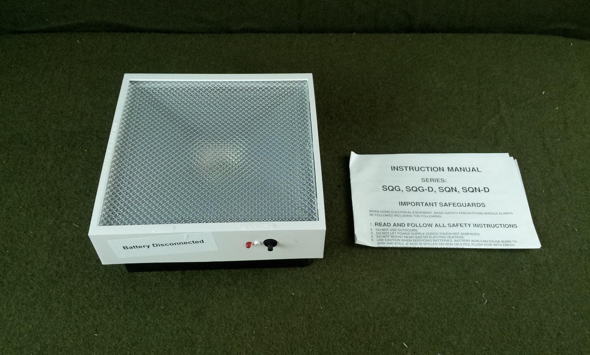 Lightalarm Battery Backup Emergency Light SQG SQG-D SQN SQN-D