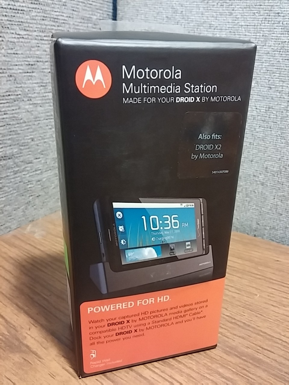 MOTOROLA MULTIMEDIA STATION HD DOCK FOR DROID X X2 INCLUDES WALL CHARGER NEW