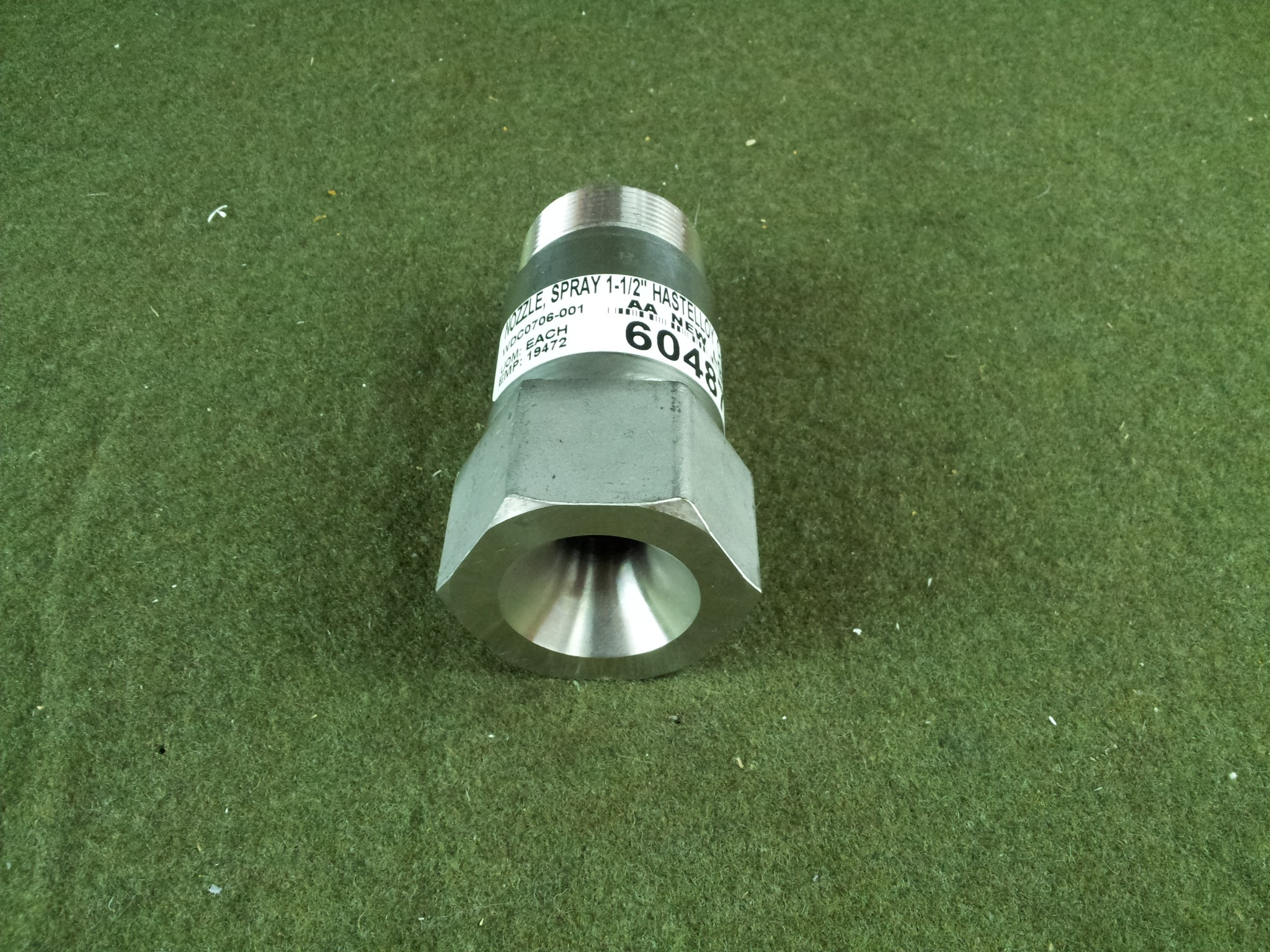"BETE MP656M 316 1-1/2"" 90 Degree Full Cone Nozzle Hastelloy C-276 Unused"