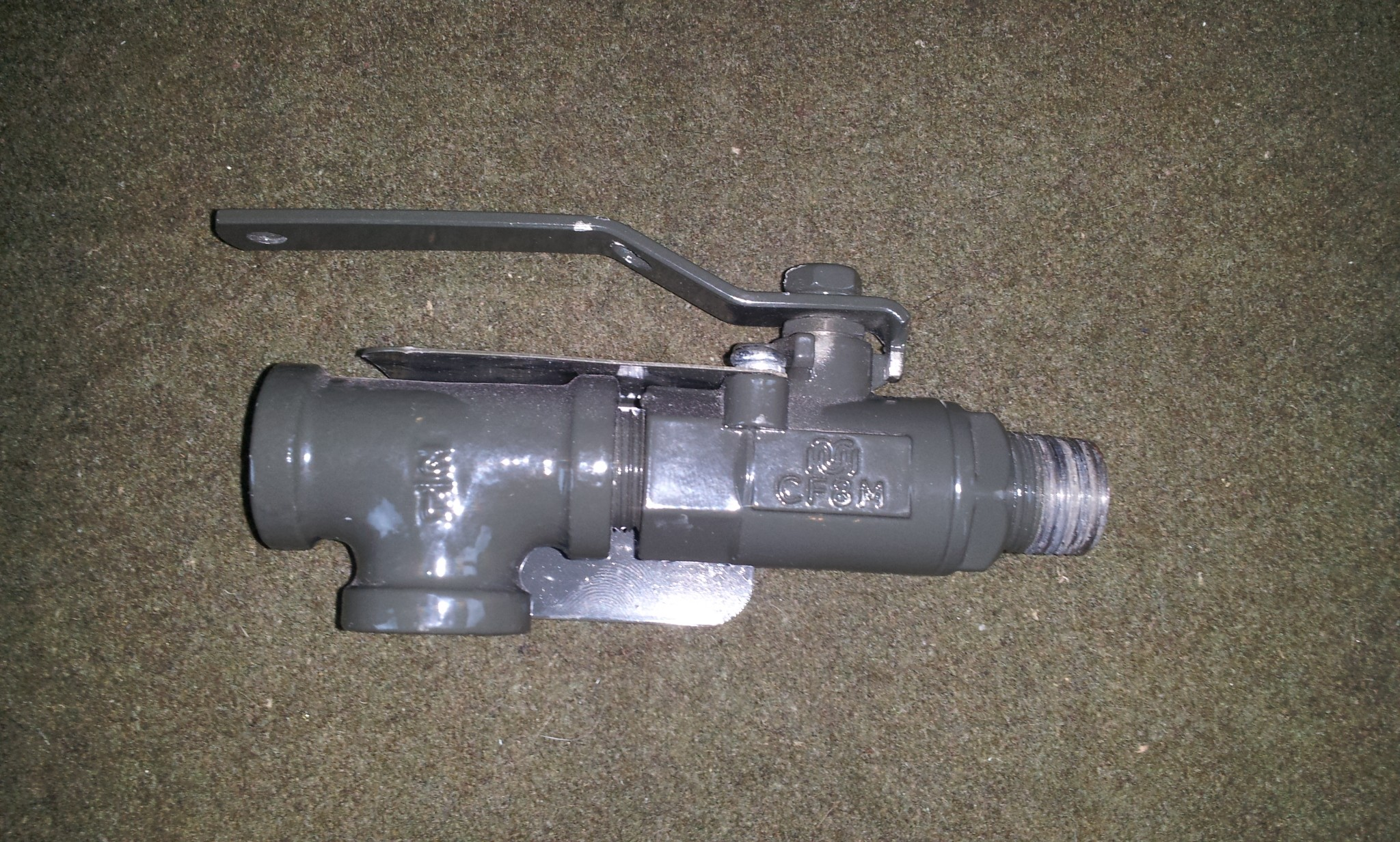 """Stainless Steel Inlet Ball Valve 1/2"""", CF8M, 2000WOG"""