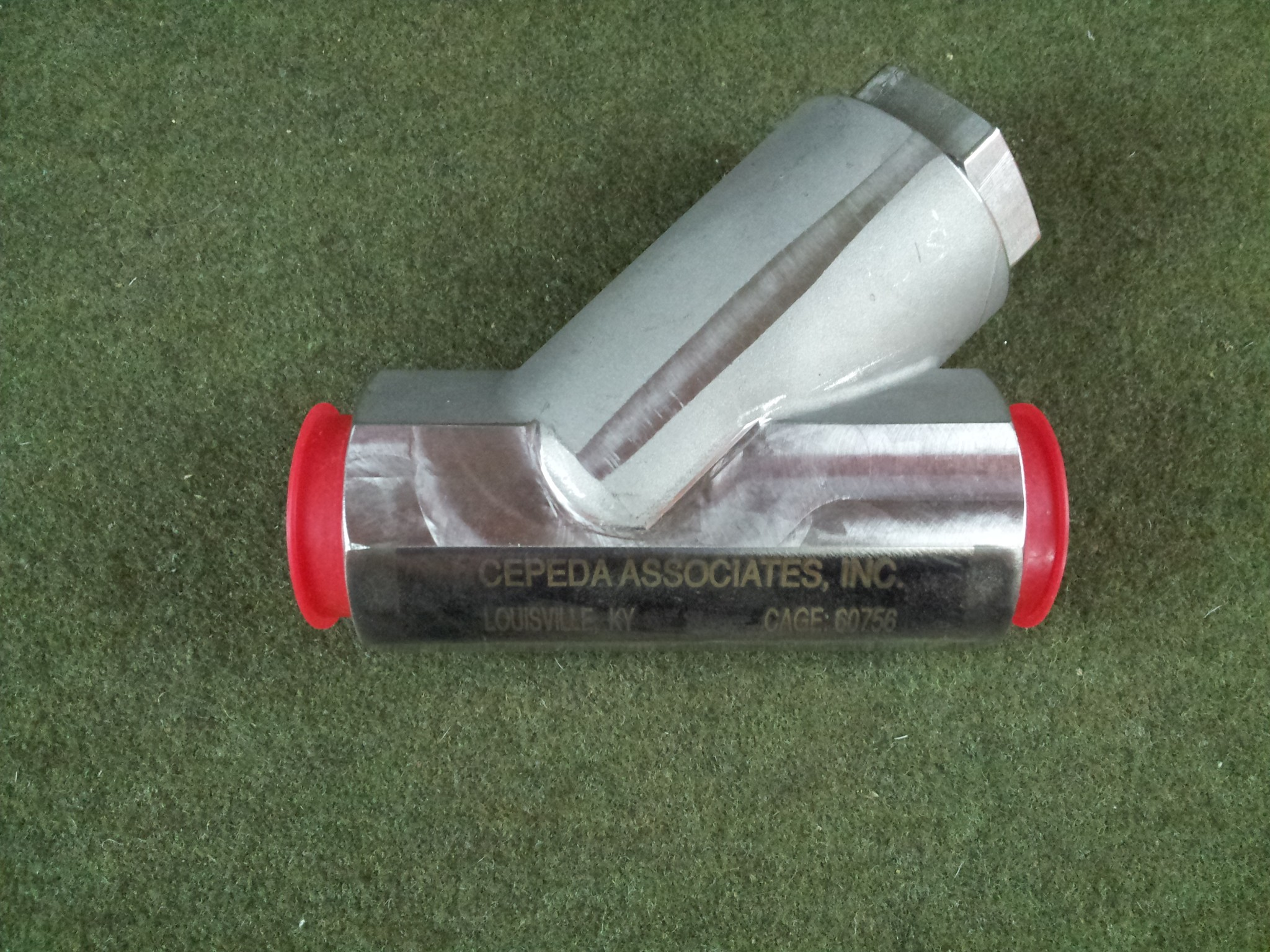 """Cepeda Y Strainer 1-1/4"""" 1028-B310A Socket Weld  Corrosion Resistant Steel Unused"""