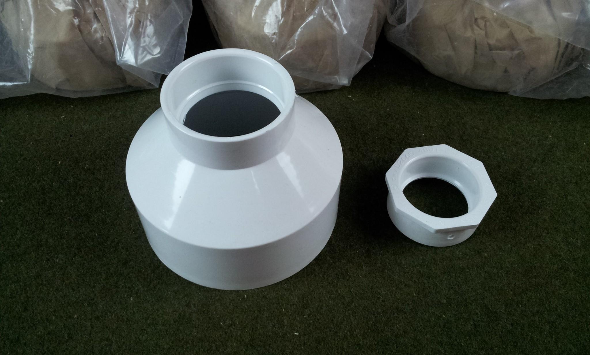 """New Nibco 4801 4""""x 2"""" H x H DVW PVC Pipe Reducer & 4801-2-F 2"""" x 1-1/2"""""""