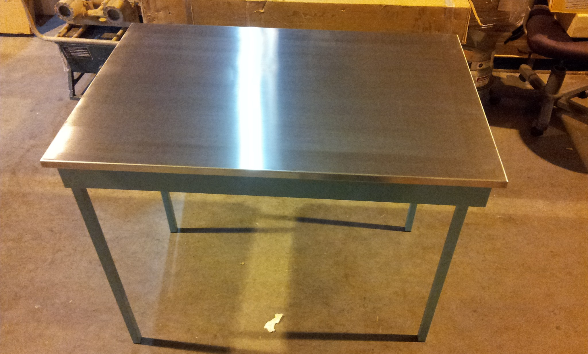 """Heavy Duty Folding Table 45"""" x 30"""" x 36"""" With Stainless Steel Top &"""