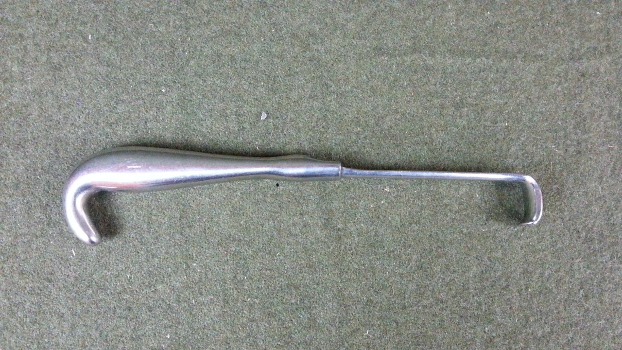 Vintage Weck Richardson Retractor 10in, Blade 3/4 x 1-1/4