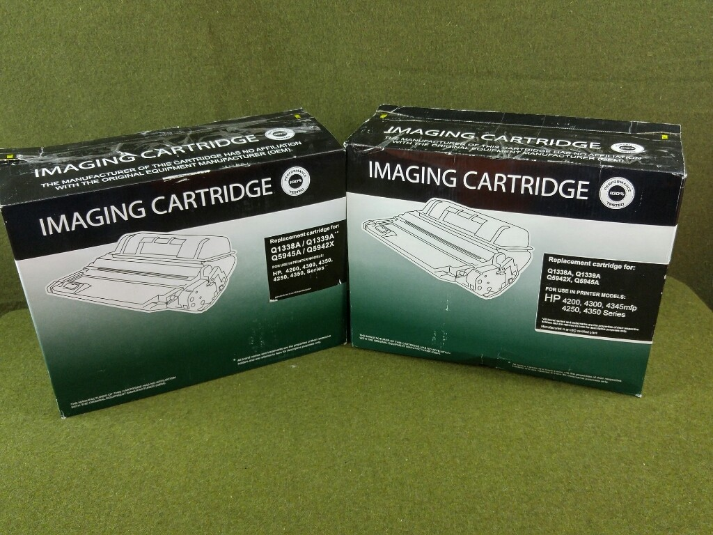 2 NEW Compatible Toner Cartridge Q5942XU For HP 4200, 4300, 4250, 4350, & 4345 MFP
