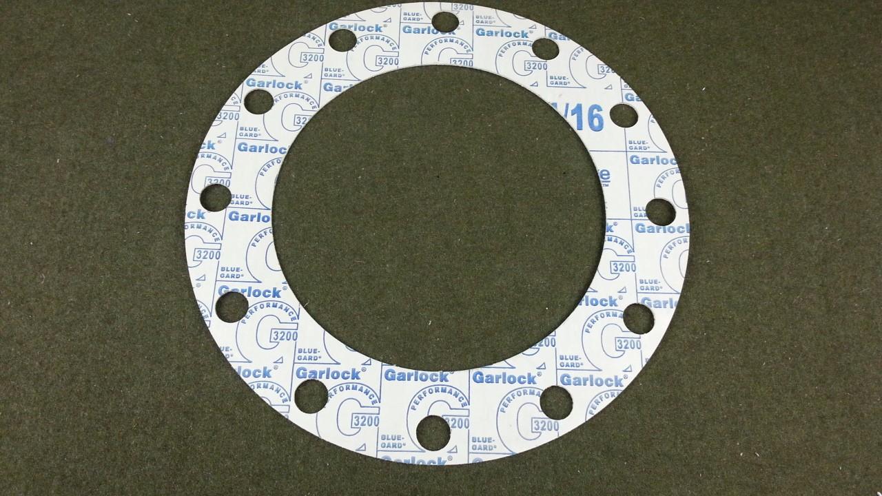 """Garlock G3200 Blue-Gard 12 Bolt 16"""" OD 10-3/4"""" ID Gasket NEW"""