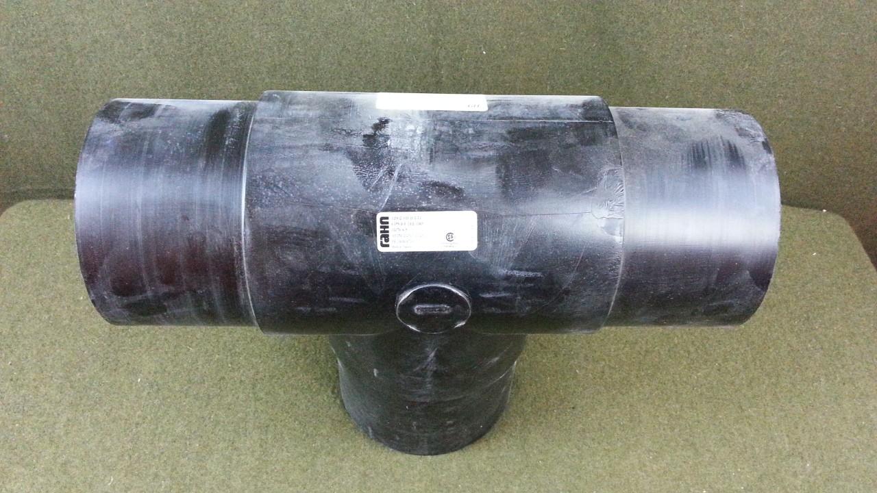 """Rahn Plastics 6"""" Slip On Tee T 3137B-6-9 - 6 IPS - Black PVC"""