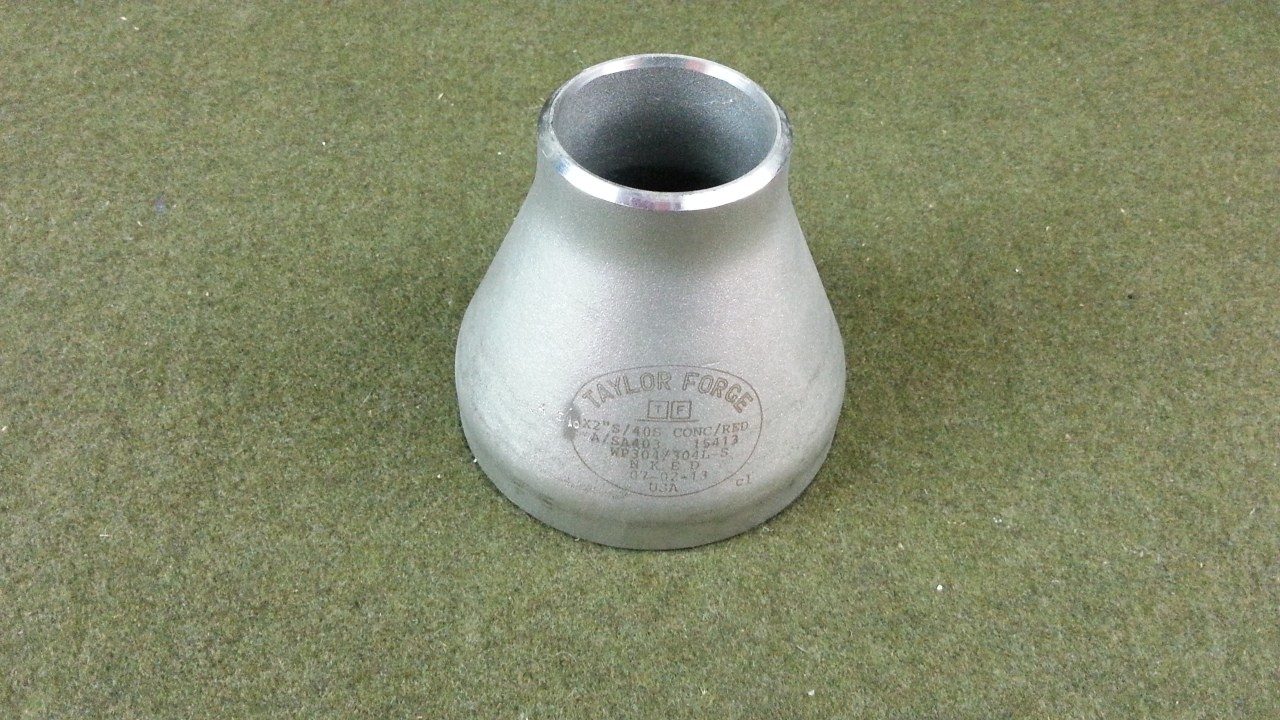Taylor Forge Stainless Steel 304/304L Pipe Fitting Concentric Reducer Butt-Weld 40S