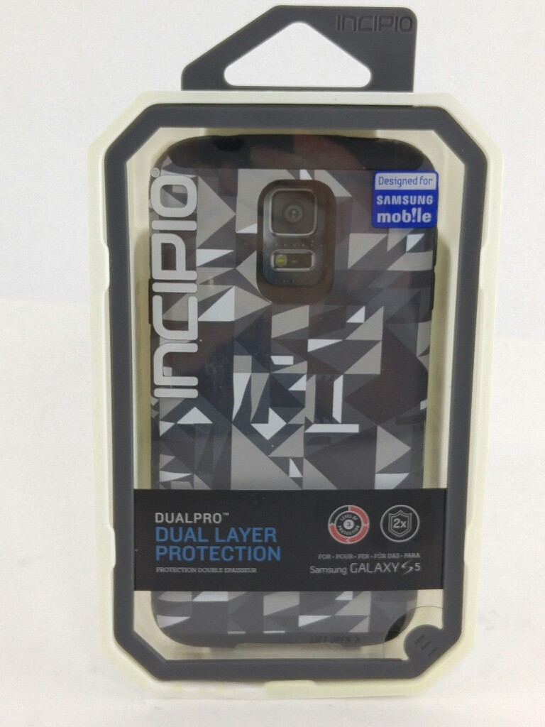 INCIPIO DualPro Case for Samsung Galaxy S5 - Gray Geometric Print