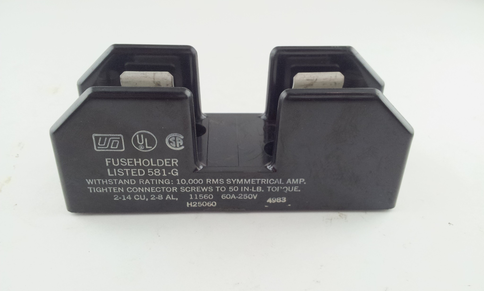 USD H25060 Fuse Holder 60 Amp 250V Single Pole 581-G