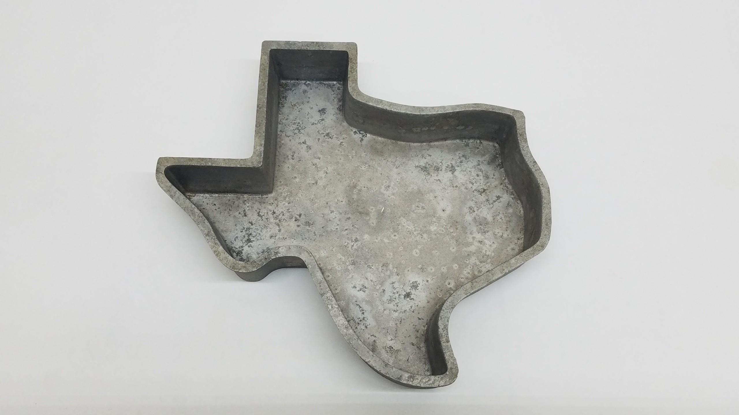 Vintage Texas Cake Bake Pan 1969 Heritage Garden Museum State Cast Aluminum