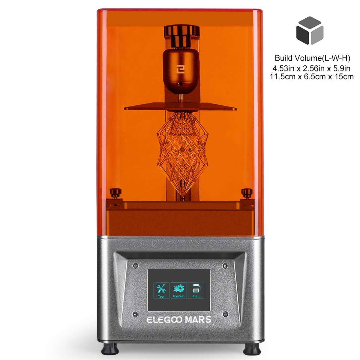 ELEGOO Mars UV Photocuring LCD 3D Printer Silver with 3.5'' Smart Touch Color Screen