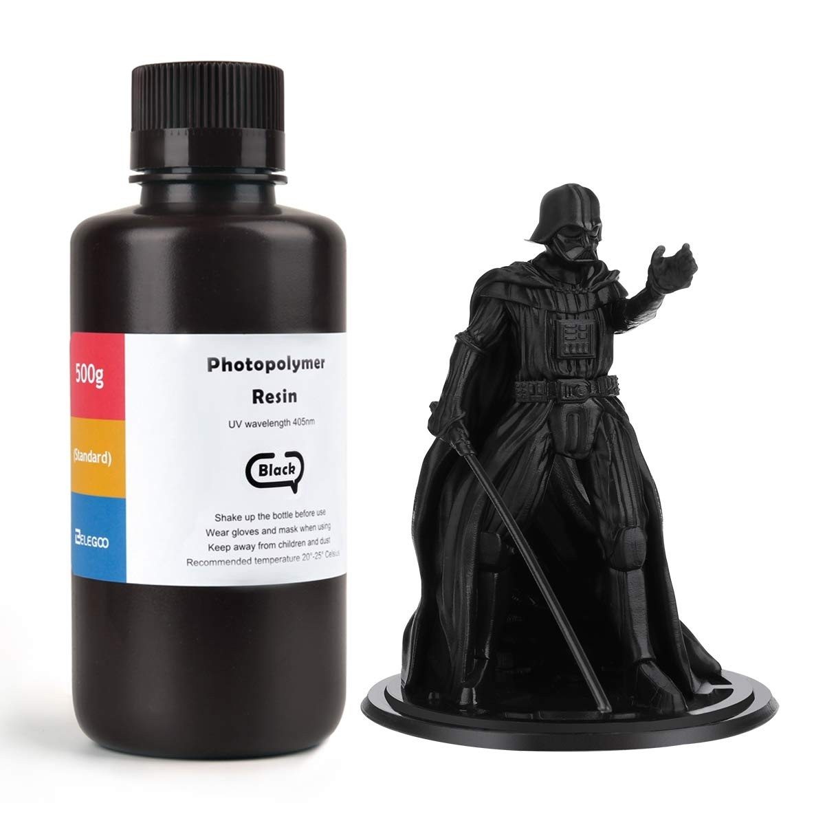ELEGOO Standard 3D Printer Rapid Resin 500 Gram Black