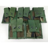 5 NEW MOLLE Woodland Camo 40MM Pyrotechnic Pocket Double Pouch