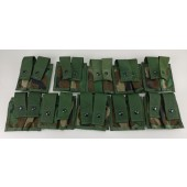 10 NEW MOLLE Woodland Camo 40MM Pyrotechnic Pocket Double Pouch
