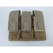 MOLLE / PALS Compatible Coyote Tan Modular Triple Universal Magazine Pouch