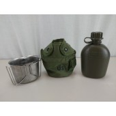 Genuine USGI Canteen and Cup with ALICE OD Green Canteen Cover