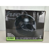 Fuel Helmets SH FF0016 Full Face Helmet, Gloss Black, Large
