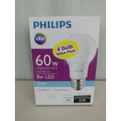 Philips 60W Equivalent Daylight A19 LED Light Bulb (4-Pack) 9290011352A - New