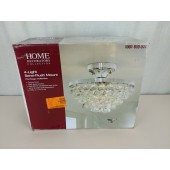 Home Decorators Collection 4-Light Chrome and Crystal Flushmount