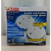 Kidde Intelligent Battery Operated Smoke and Carbon Monoxide Alarm, 2-Pack