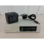 VM-112A 2-Port SVGA VGA Splitter Amplifier Multiplier 400 MHz w/Power Adapter