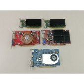 5 Nvidia PCIe Graphics Cards 8500 GT 6600 GT N6600 NVS 300