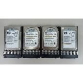 Lot of 4 HP 146Gb 10K SAS Hard Drives