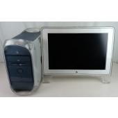 """Apple Powermac G4 w/ 22"""" Cinema Display Power Tested - AS IS"""