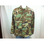Hot Weather BDU 4 Pocket Coat Small 2X Sht. Woodland 8415-01-390-9641