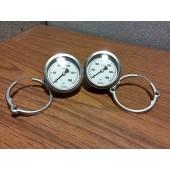 2 NOSHOCK 0- 2000 & 0-3000 PSI Pressure Gauge 316 SS Tube & Socket