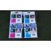 HP Ink Cartridge 10 Lot Of 4 (2 cyan/ 2 magenta) NEW