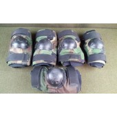 5 Bijan's Elbow Pad Sets Military Issue Woodland Camo Size Large Used