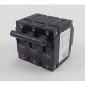 Sanken Airpax IEGH-111-1-62F-10A 3 Pole 10 amp Circuit Breaker