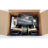 Schlage F10 ACC 505 605 Wakefield  Accent Passage Lever, Bright Brass LH