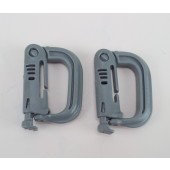 ITW Nexus GrimLoc D-Ring Locking Carabiner Foliage Green  MOLLE Made in USA 2 Pack