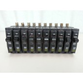 Square D QOB120 1 Pole 20 Amp 120/240 Volt Circuit Breaker Lot of 10