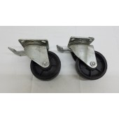 "Payson 200/5 5"" Swivel Plate Caster With Brake set of 2 Medium Heavy"